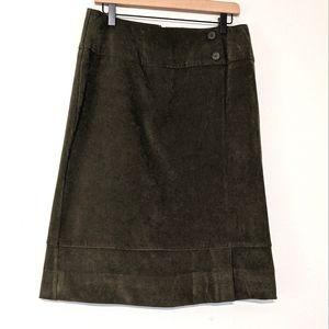 Norton Studio Faux Suede Knee Length Skirt sz 10